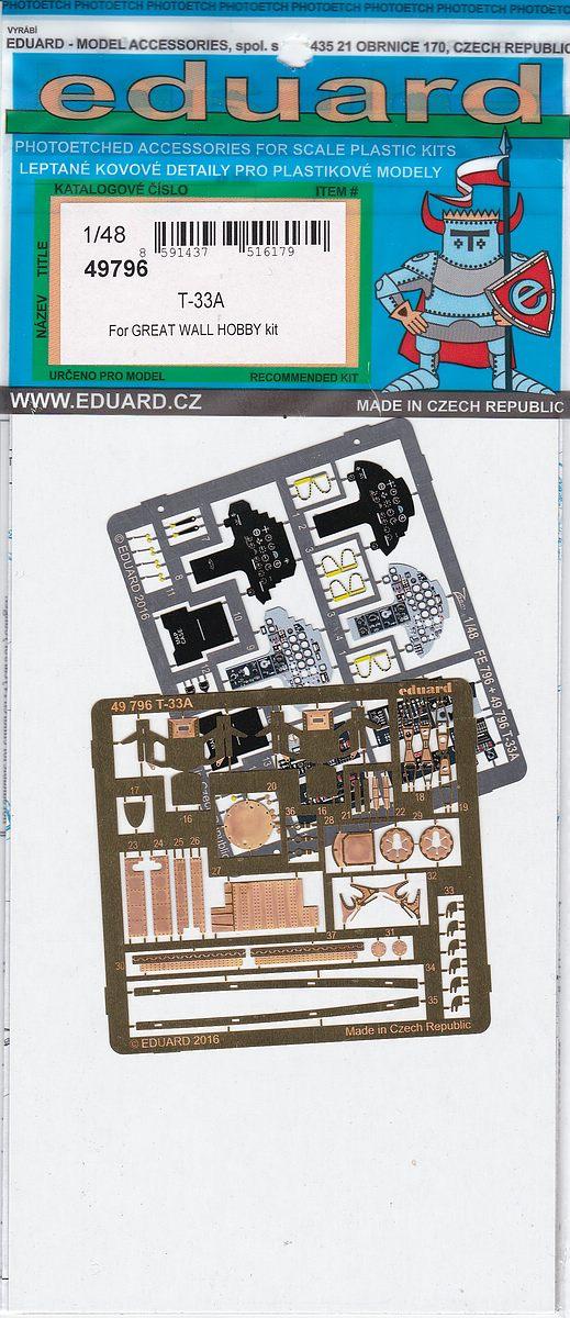 Eduard-49796-T-33A-Deatil-Set-1 EDUARD Detailsets für die T-33A von GWH # 49796, FE 796 etc.