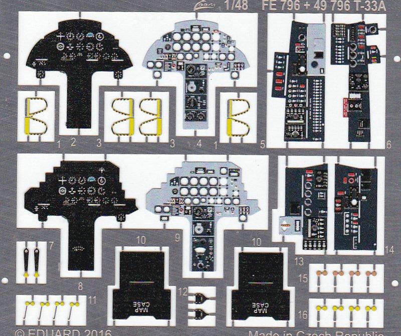Eduard-49796-T-33A-Deatil-Set-2 EDUARD Detailsets für die T-33A von GWH # 49796, FE 796 etc.