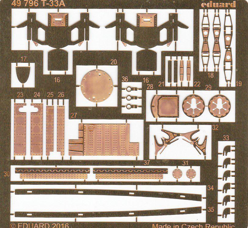 Eduard-49796-T-33A-Deatil-Set-3 EDUARD Detailsets für die T-33A von GWH # 49796, FE 796 etc.