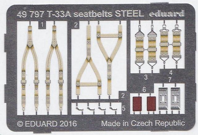 Eduard-49797-T-33A-Seatbelts-STEEL-2 EDUARD Detailsets für die T-33A von GWH # 49796, FE 796 etc.