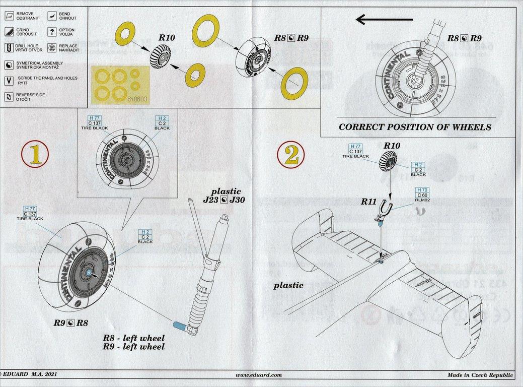 Eduard-648603-und-648606-Bf-110G-Nachtjaeger-Wheels-and-Exhaust-10 Räder und Auspuff-/Flammdämpferanlage für den Nachtjäger Bf 110G von Eduard in 1:48 #648603 und #648606