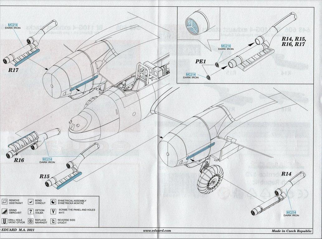 Eduard-648603-und-648606-Bf-110G-Nachtjaeger-Wheels-and-Exhaust-17 Räder und Auspuff-/Flammdämpferanlage für den Nachtjäger Bf 110G von Eduard in 1:48 #648603 und #648606