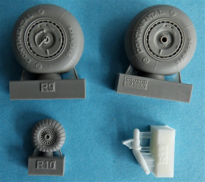 Eduard-648603-und-648606-Bf-110G-Nachtjaeger-Wheels-and-Exhaust-3 Räder und Auspuff-/Flammdämpferanlage für den Nachtjäger Bf 110G von Eduard in 1:48 #648603 und #648606