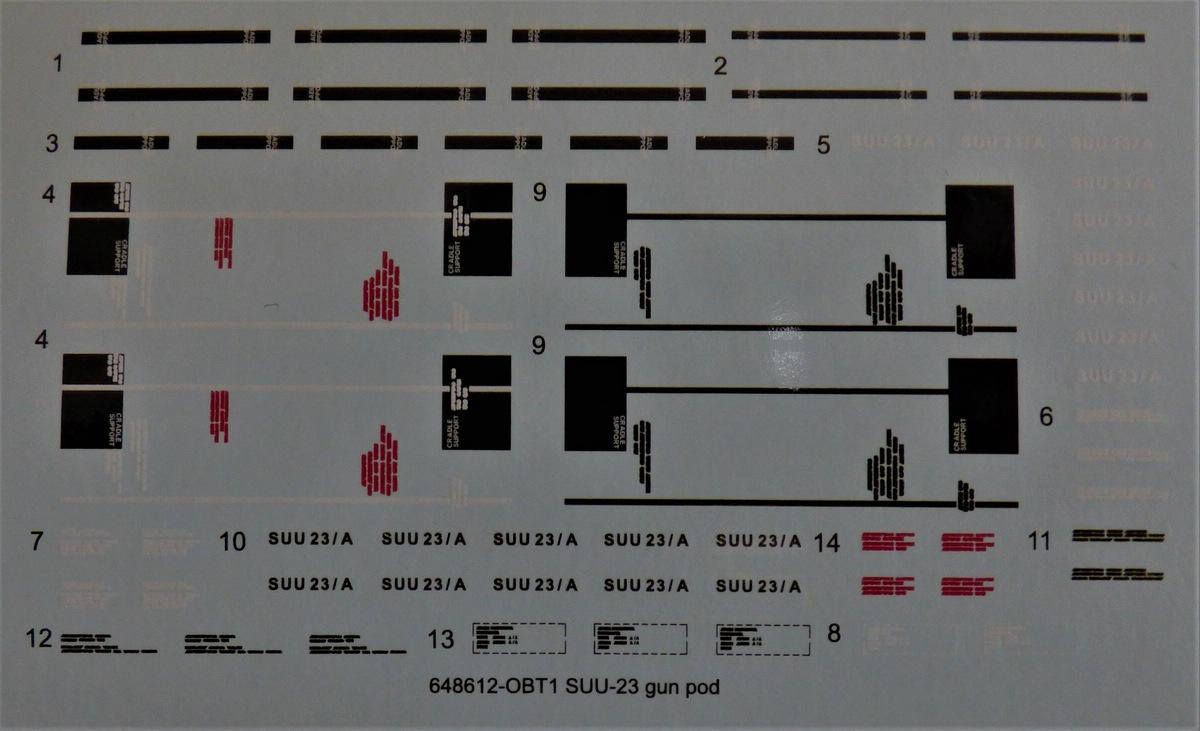 Eduard-648612-SUU-23-gun-pod-13 SUU-23 Gun Pod von Eduard in 1:48 #648612