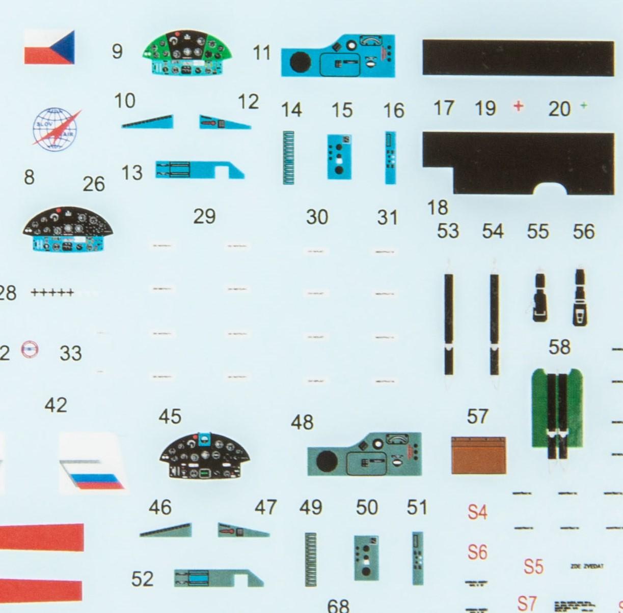 Eduard-7456-Z-37A-Cmelak-DEcals Z-37A Cmelak als WEEKEND-Edition in 1:72 von Eduard #7456
