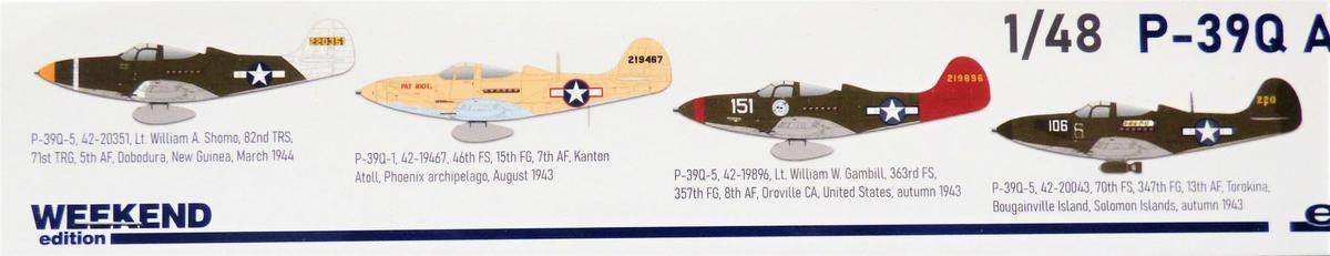 Eduard-8470-P-39Q-WEEKEND-2 P-39Q Airacobra als Weekend-Edition von Eduard in 1:48 #8470
