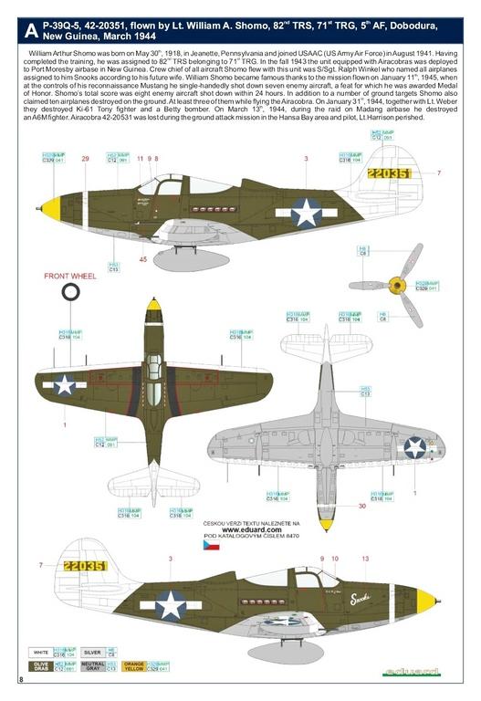 Eduard-8470-P-39Q-WEEKEND-28 P-39Q Airacobra als Weekend-Edition von Eduard in 1:48 #8470