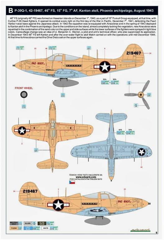 Eduard-8470-P-39Q-WEEKEND-29 P-39Q Airacobra als Weekend-Edition von Eduard in 1:48 #8470