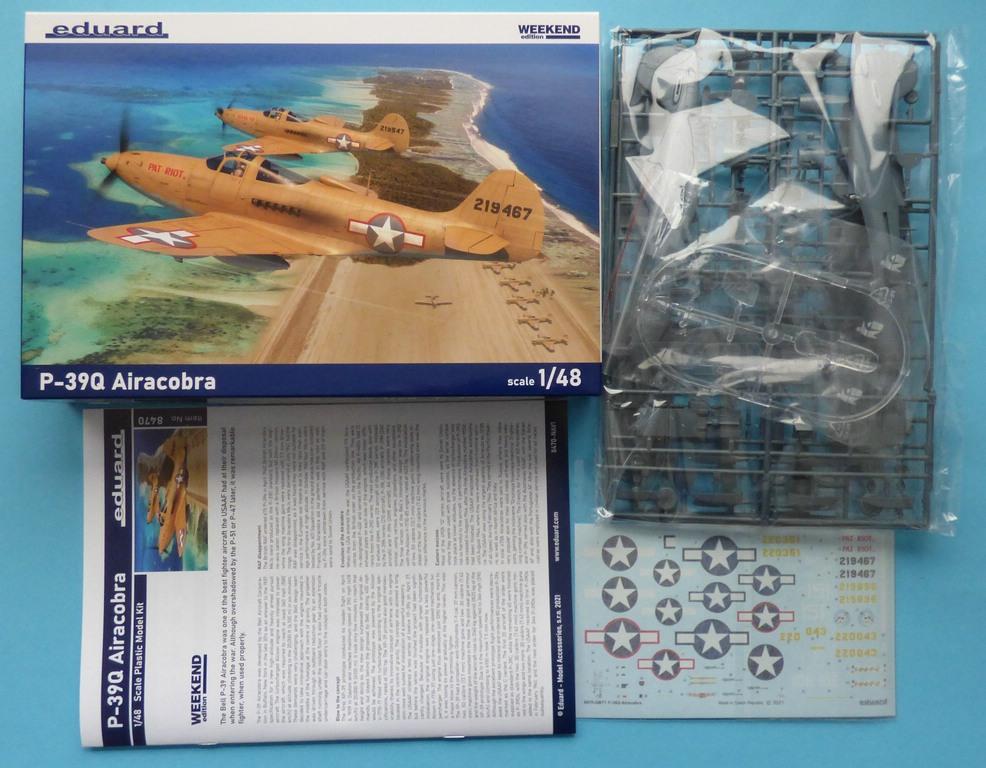 Eduard-8470-P-39Q-WEEKEND-3 P-39Q Airacobra als Weekend-Edition von Eduard in 1:48 #8470