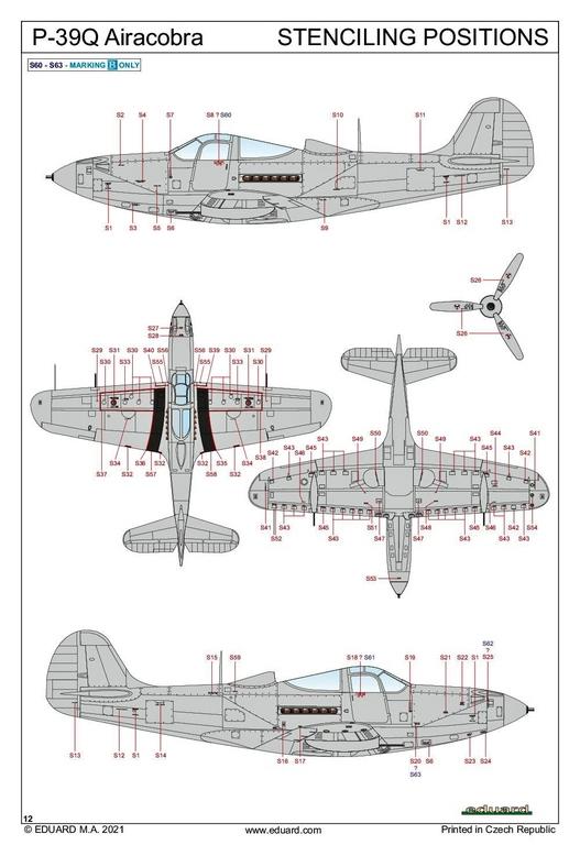 Eduard-8470-P-39Q-WEEKEND-32 P-39Q Airacobra als Weekend-Edition von Eduard in 1:48 #8470