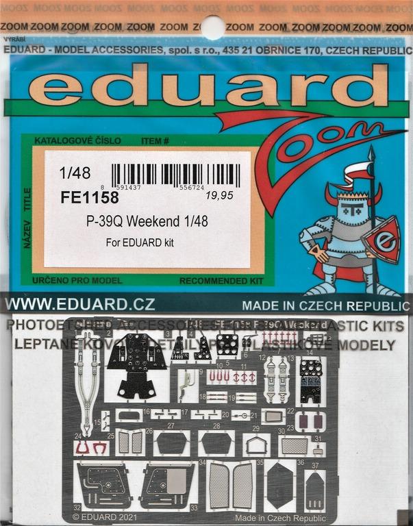 Eduard-P-39-FE-1158-ZOOM-und-3DL48012-SPACE-2 ZOOM- und SPACE von Eduard für die P-39 in 1:48 #FE1158 und #3DL348012
