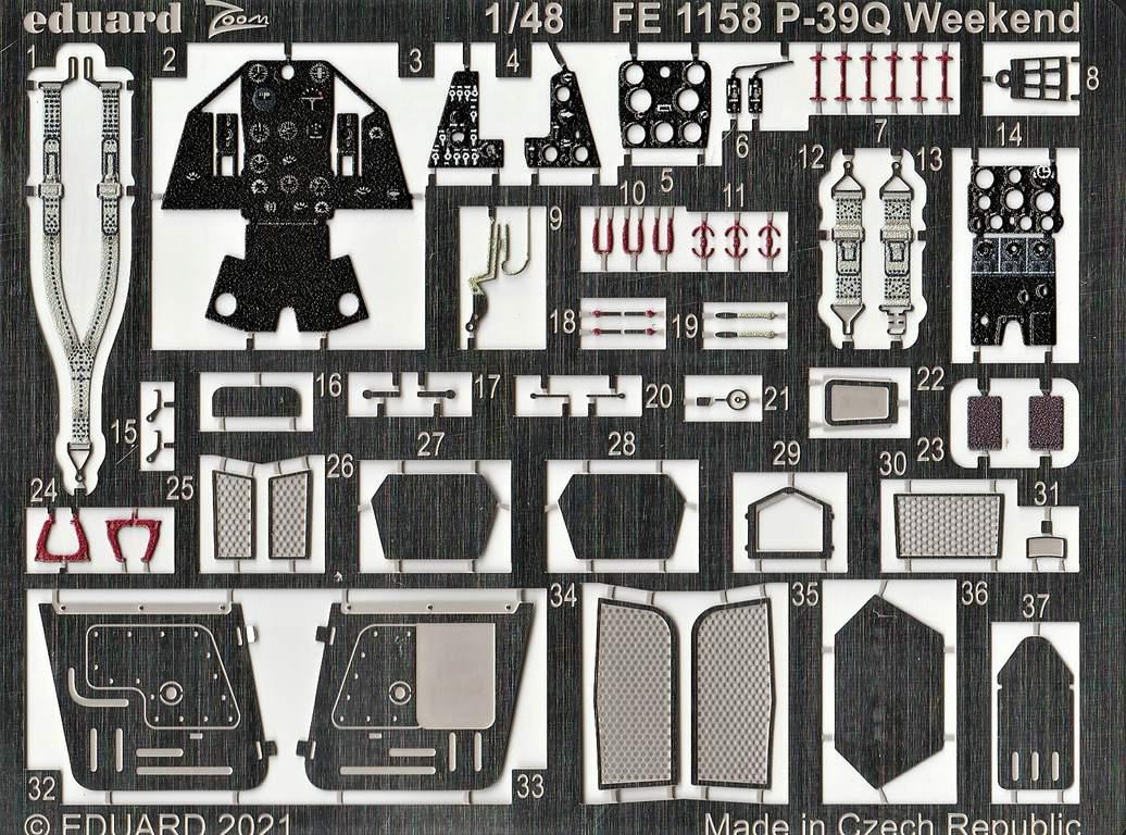 Eduard-P-39-FE-1158-ZOOM-und-3DL48012-SPACE-3 ZOOM- und SPACE von Eduard für die P-39 in 1:48 #FE1158 und #3DL348012