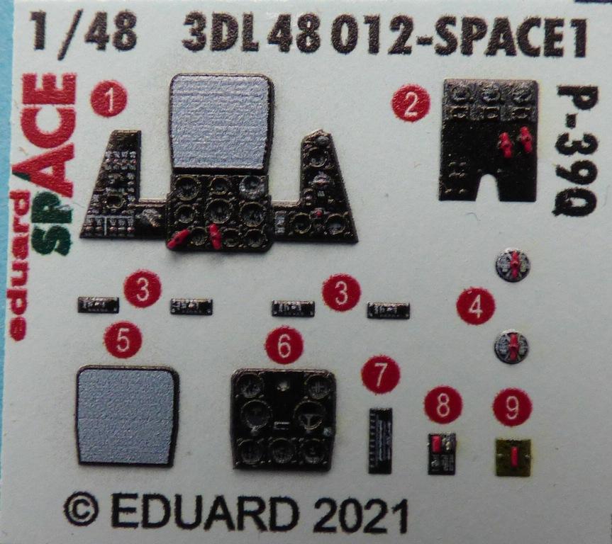 Eduard-P-39-FE-1158-ZOOM-und-3DL48012-SPACE-7 ZOOM- und SPACE von Eduard für die P-39 in 1:48 #FE1158 und #3DL348012