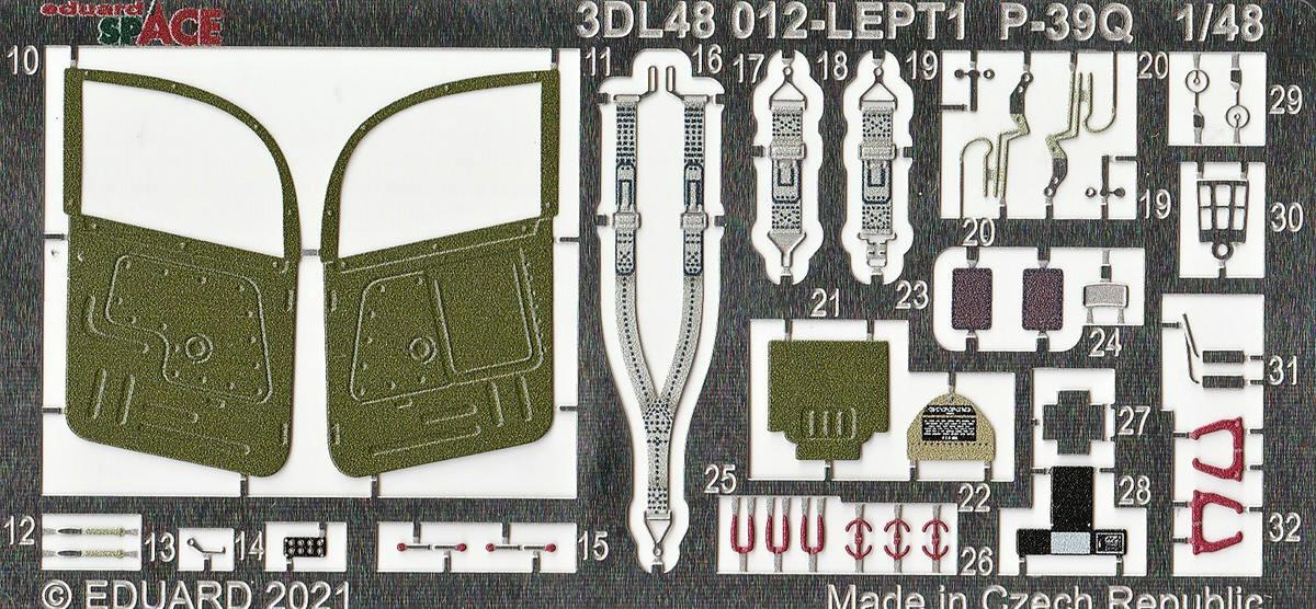 Eduard-P-39-FE-1158-ZOOM-und-3DL48012-SPACE-9 ZOOM- und SPACE von Eduard für die P-39 in 1:48 #FE1158 und #3DL348012