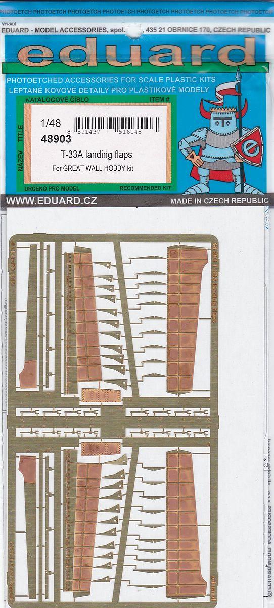Euard-48903-T-33A-LAnding-Flaps-1 EDUARD Detailsets für die T-33A von GWH # 49796, FE 796 etc.