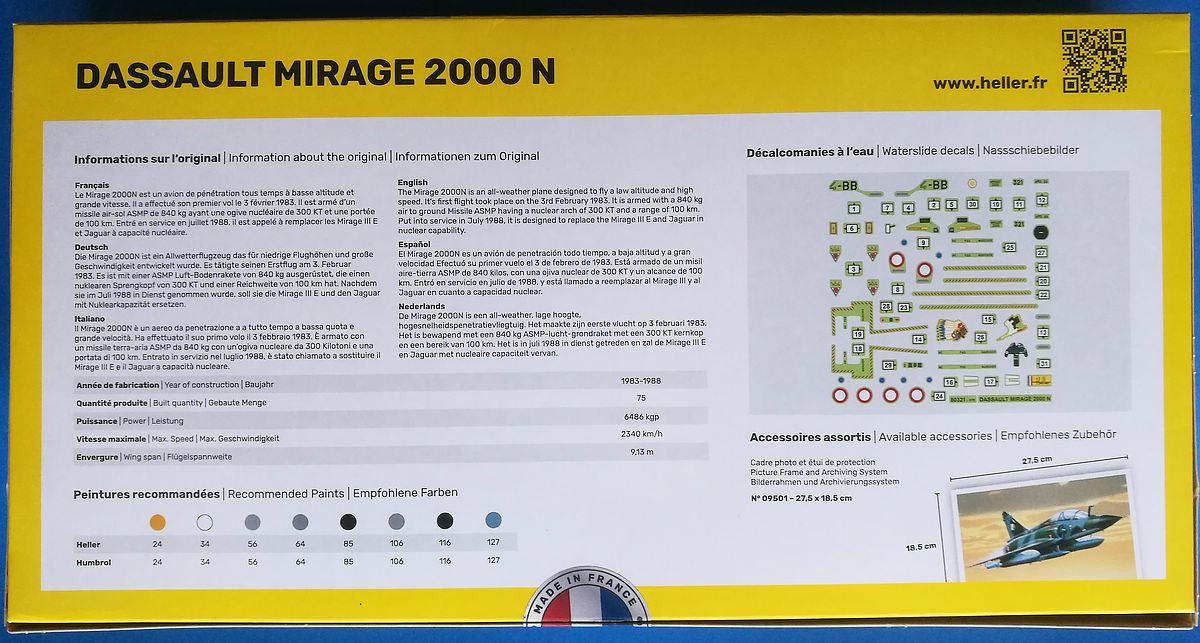 HELLER-80321-AMD-BA-Mirage-2000N-2 Mirage 2000N in 1:72 von Heller #80321