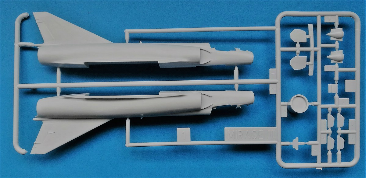 HELLER-80323-Dassault-Mirage-III-E-R-5-11 Dassault Mirage III E/R/-5 in 1:72 als Starter-Kit von Heller #80323