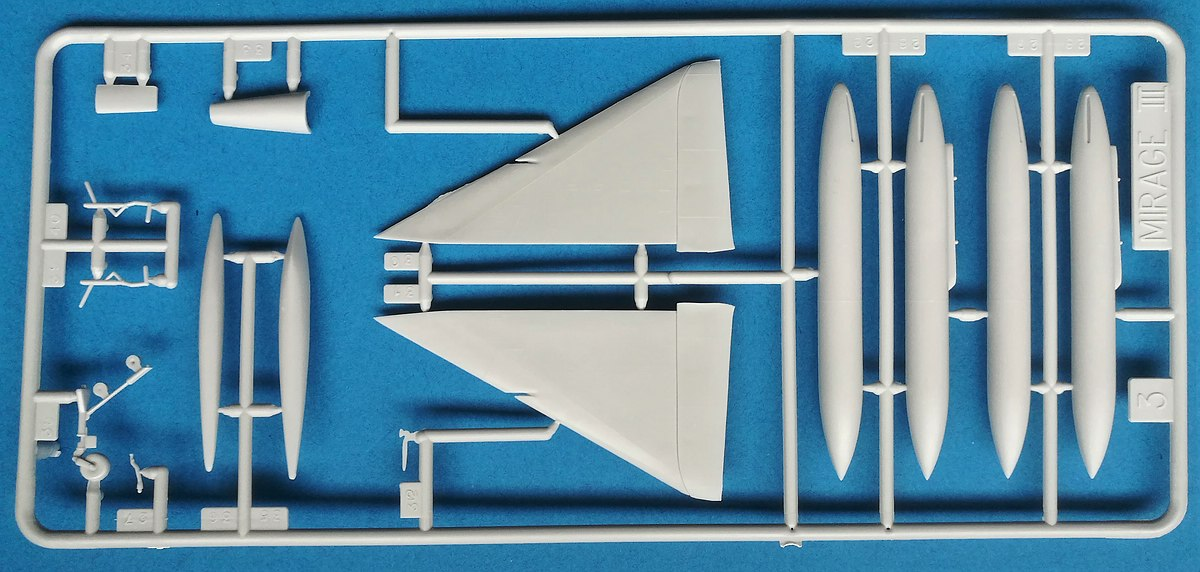 HELLER-80323-Dassault-Mirage-III-E-R-5-26 Dassault Mirage III E/R/-5 in 1:72 als Starter-Kit von Heller #80323
