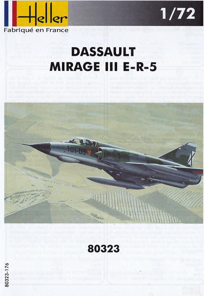HELLER-80323-Dassault-Mirage-III-E-R-5-3 Dassault Mirage III E/R/-5 in 1:72 als Starter-Kit von Heller #80323