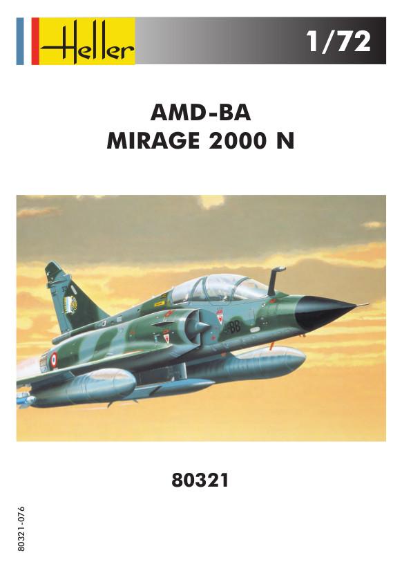 Heller-80321-AMD-BA-Mirage-2000N-Bauanleitung-1 Mirage 2000N in 1:72 von Heller #80321