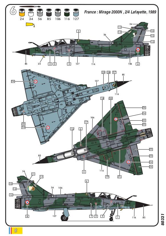 Heller-80321-AMD-BA-Mirage-2000N-Bauanleitung-8 Mirage 2000N in 1:72 von Heller #80321