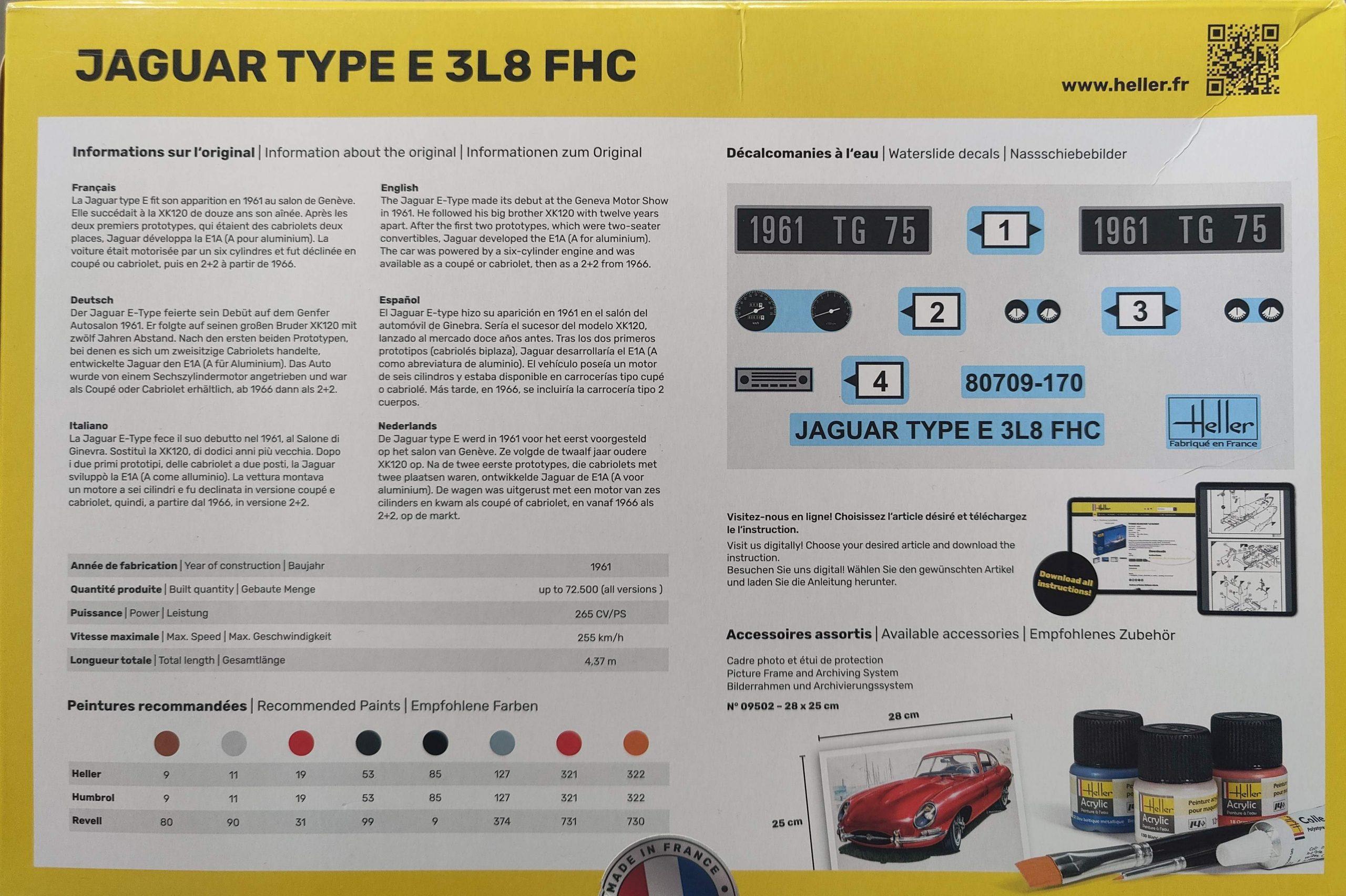 Heller_Jaguar03-scaled Heller Jaguar Type E 3L8 FHC in 1:24 # 80709
