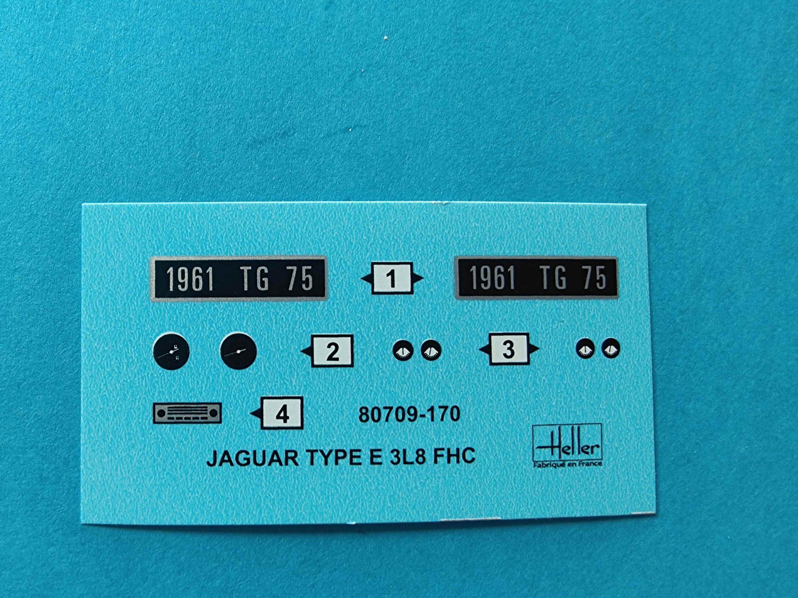 Heller_Jaguar14-scaled Heller Jaguar Type E 3L8 FHC in 1:24 # 80709