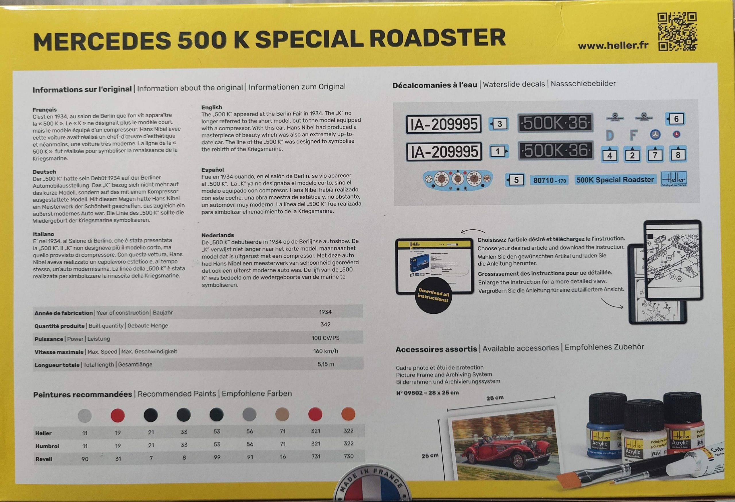 Heller_Mercedes500k09-scaled Mercedes 500K Special Roadster in 1:24 von Heller