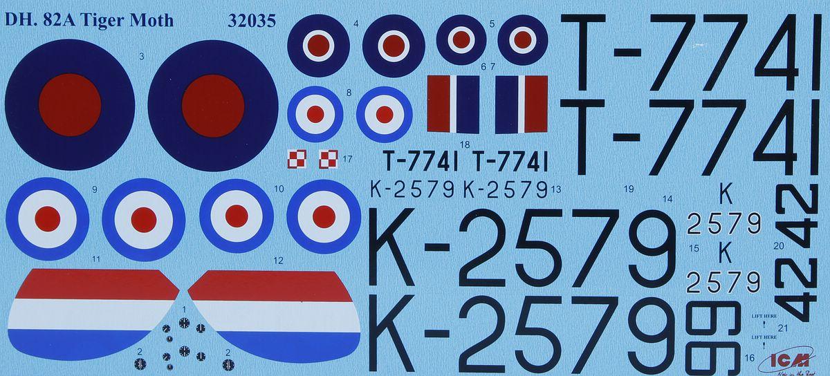 ICM-32035-DH.82A-Tiger-Moth-21 DH. 82A Tiger Moth in 1:32 von ICM # 32035