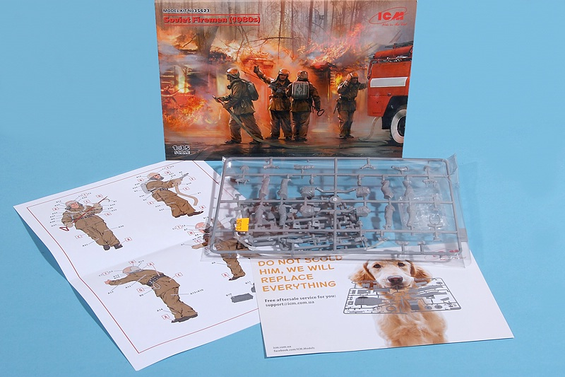 ICM-35623-Soviet-Firemen-1980s-2 Soviet Firemen1980s in 1:35 von ICM # 35623