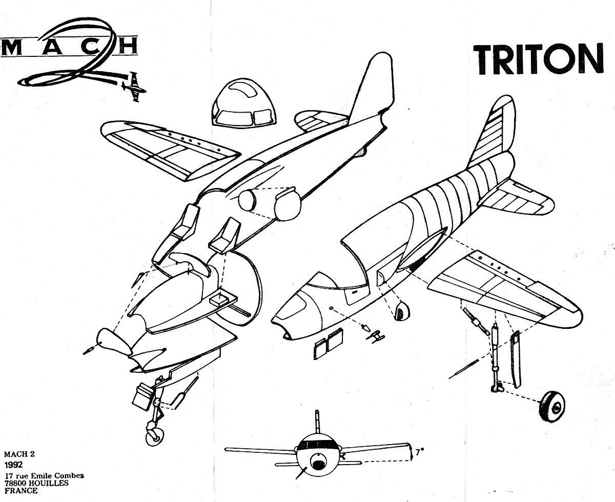 MACH-2-SO-6000-Triton-13 Kit-Archäologie: S.O. 6000 Triton in 1:72 von MACH 2