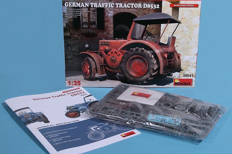MiniArt-38041-German-Traffic-Tractor-Lanz-D-8532-2 German Traffic Tractor Lanz D 8532 in 1:35 von MiniArt #38041