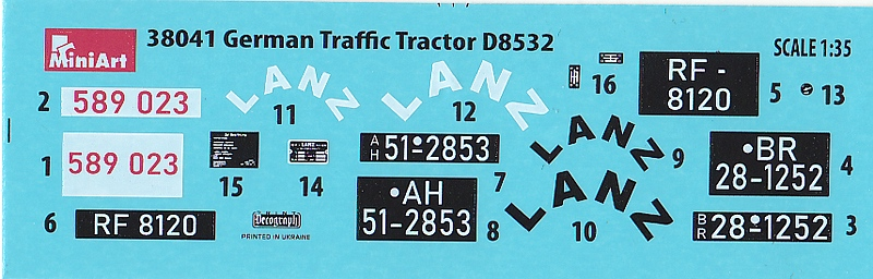 MiniArt-38041-German-Traffic-Tractor-Lanz-D-8532-5 German Traffic Tractor Lanz D 8532 in 1:35 von MiniArt #38041
