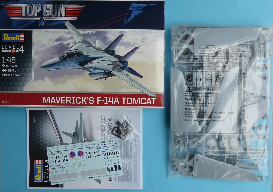 Revell-03865-Mavericks-F-14-TopGun-2 Maverik's F-14A Tomcat von Revell in 1:48 #