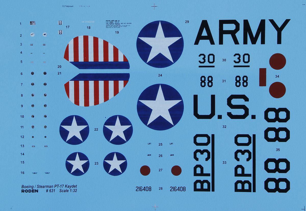 Roden-631-Boeing-Stearman-PT-17-Kaydet-31 Boeing-Stearman PT-17 Kaydet in 1:32 von Roden #631