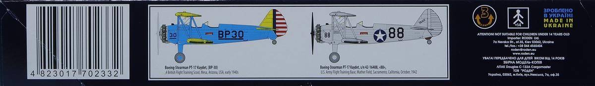 Roden-631-Boeing-Stearman-PT-17-Kaydet-34 Boeing-Stearman PT-17 Kaydet in 1:32 von Roden #631