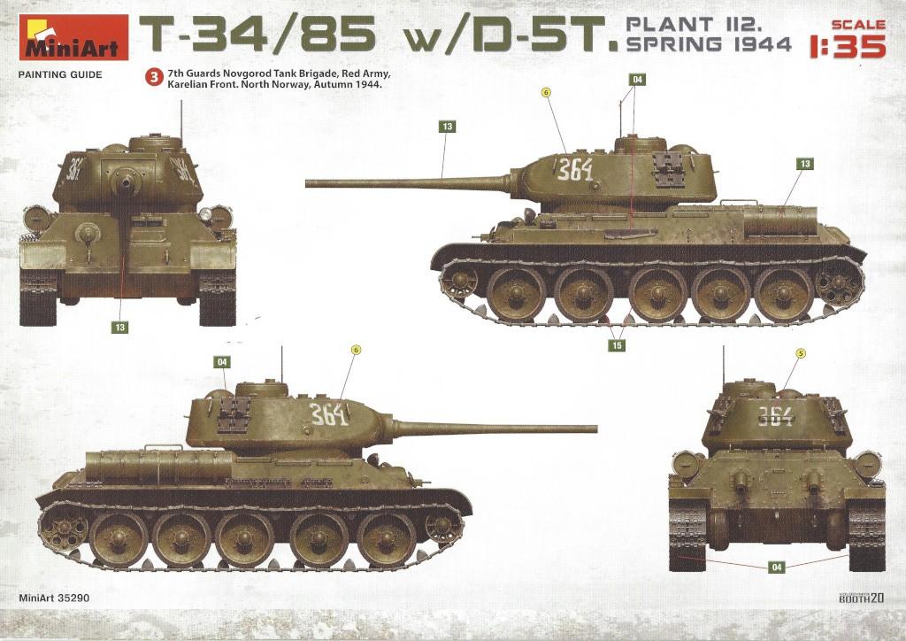 A27 T-34/85 w/D-5T Plant 112 Spring 1944 1:35 Miniart (#35290)