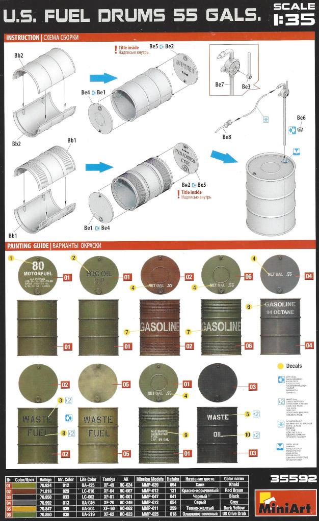 Anleitung-1 U.S. Fuel Drums 55 Gals. 1:35 Miniart (#35592)