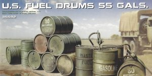 U.S. Fuel Drums 55 Gals. 1:35 Miniart (#35592)