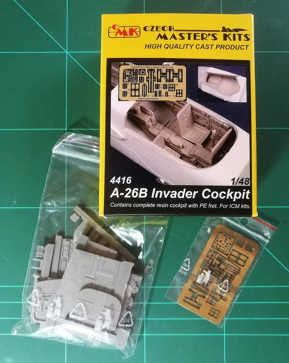 CMK-4416-A-26B-Invader-Cockpit-2 Cockpit für die A-26B Invader in 1:48 von CMK #4416