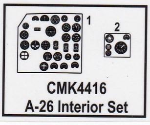 CMK-4416-A-26B-Invader-Cockpit-Film Cockpit für die A-26B Invader in 1:48 von CMK #4416