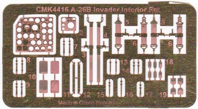 CMK-4416-A-26B-Invader-Cockpit-Photoaetzteile Cockpit für die A-26B Invader in 1:48 von CMK #4416