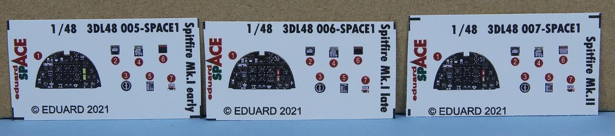Eduard-3DL48005-Spitfire-Mk.-I-Early-SPACE-3 SPACE und LÖÖK-Sets für Spitfire Mk. I und Mk. II von Eduard #3DL48005
