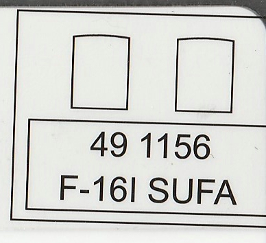 """Eduard-491156-Kinetic-F-16-Sufa-3 Ätzteile von Eduard für die F-16I """"Sufa"""" von Kinetic in 1:48 #491156"""