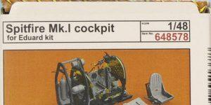 Spitfire Mk. I BRASSIN Cockpit in 1:48 von Eduard #648578