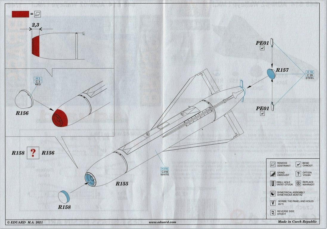 Eduard-648614-AGM-62-Walleye-10 AGM-62 Walleye I Mk.I Lenkbombe von Eduard in 1:48 #648614