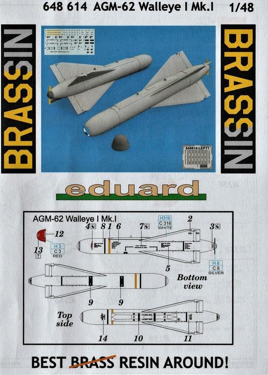 Eduard-648614-AGM-62-Walleye-11 AGM-62 Walleye I Mk.I Lenkbombe von Eduard in 1:48 #648614