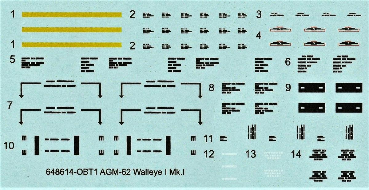 Eduard-648614-AGM-62-Walleye-8 AGM-62 Walleye I Mk.I Lenkbombe von Eduard in 1:48 #648614