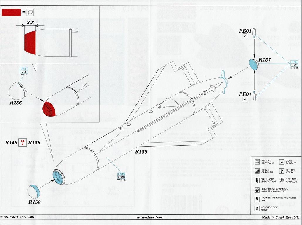 Eduard-648615-AGM-62-Walleye-I-10 AGM-62 Walleye I ER/ERDL Lenkbombe von Eduard in 1:48 #648615