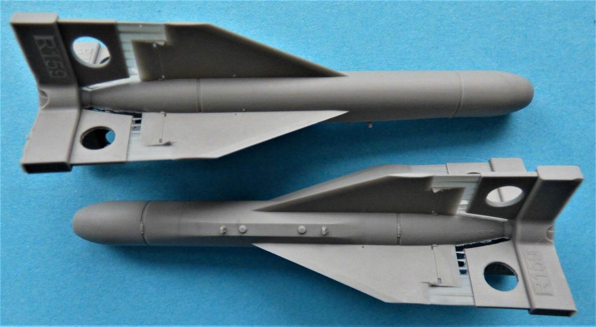 Eduard-648615-AGM-62-Walleye-I-2 AGM-62 Walleye I ER/ERDL Lenkbombe von Eduard in 1:48 #648615